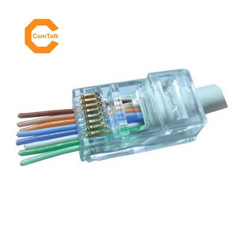 Dintek Cat.6 Unshielded RJ45 Pass Through Modular Plug (100 PCS)