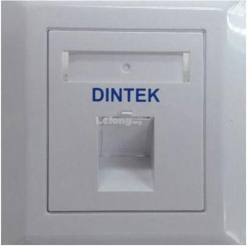 DINTEK FACE PLATE 1 PORT ANGLE TYPE WITH SHUTTER (DT/1G-ANG-N)