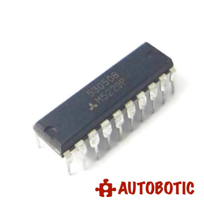 DIP-20 Integrated Circuit(M5229P) Hi-Fi 7-Element Graphic Equalizer IC