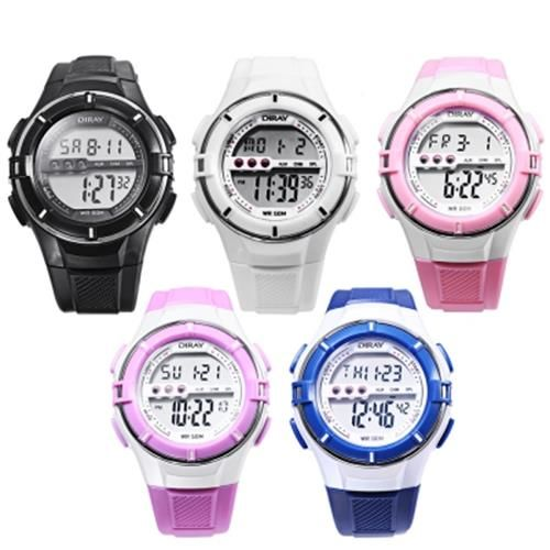 DIRAY DR - 205L KIDS LED DIGITAL WATCH DATE DAY DISPLAY ALARM 50M WATER RESIST