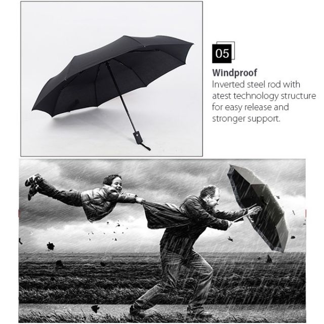 DIrect Factory Auto Open Close One Handed Automatic Windproof Vented Umbrella
