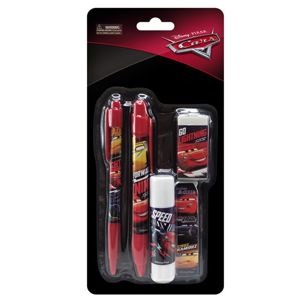 DISNEY CARS 5 IN 1 STATIONERY SET