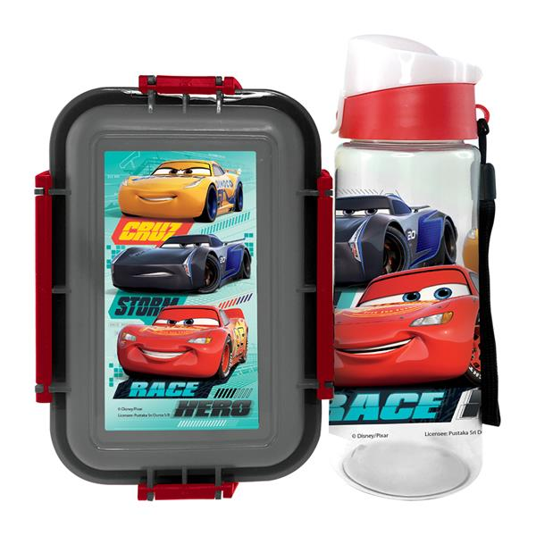 DISNEY CARS RACE LUNCH BOX WITH WATER BOTTLE SET