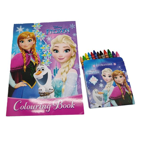 DISNEY FROZEN COLORING BOOK WITH CRAYON SET