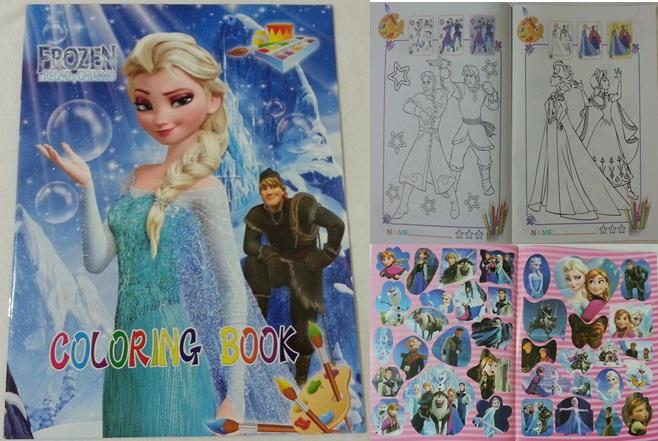 Frozen Coloring Books And Stickers | Coloring Pages