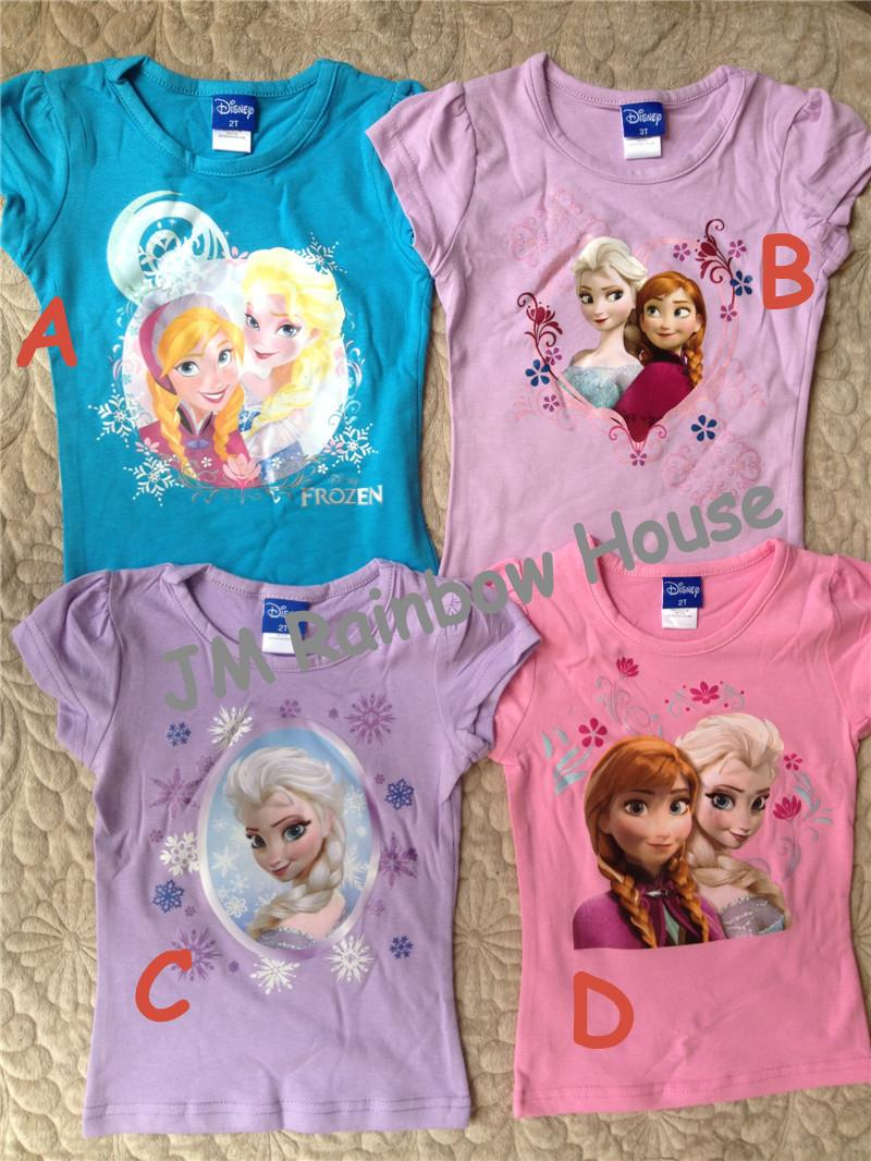 Disney Frozen Elsa Anna Casual T Shirt 100 Cotton