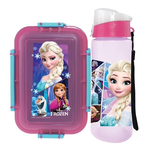 DISNEY FROZEN LUNCH BOX WITH WATER BOTTLE SET