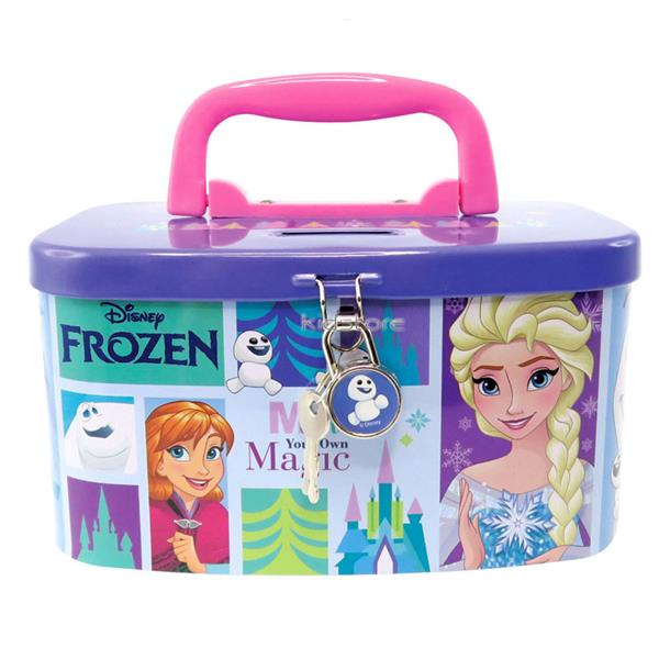 DISNEY FROZEN MAGIC COIN BANK WITH LOCK