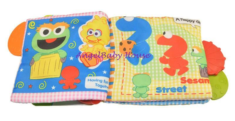 Disney Fun Teether Cloth Book/Soft Book with handle and sound