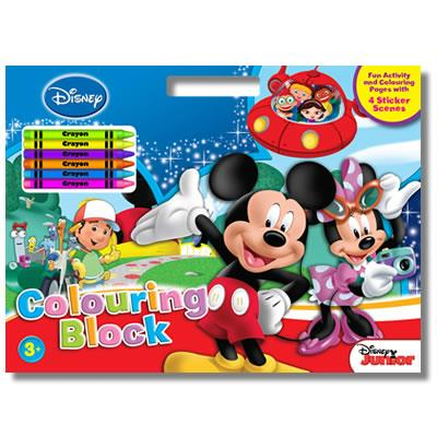 Disney Junior Colouring Book With Crayons And Stickers