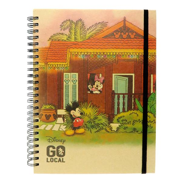 DISNEY MICKEY MOUSE GO LOCAL A5 HARD COVER NOTE BOOK (MALAY HOUSE)