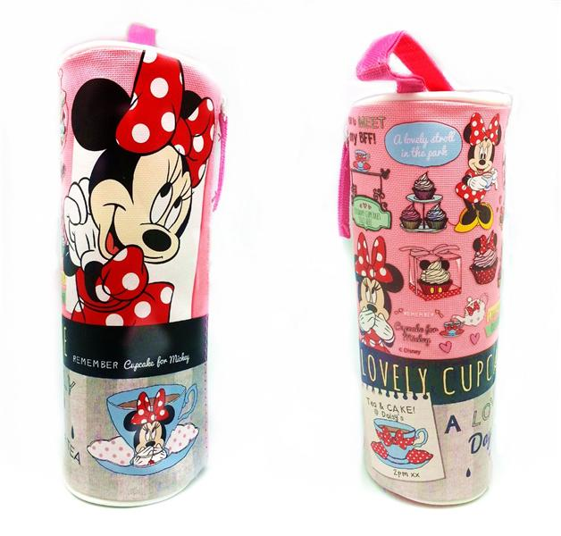 DISNEY MINNIE MOUSE ROUND PENCIL BAG * Genuine licensed