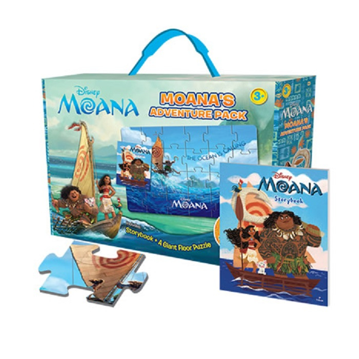 Disney Moana - Moana's Adventure Pack with Giant Puzzle and Storybook