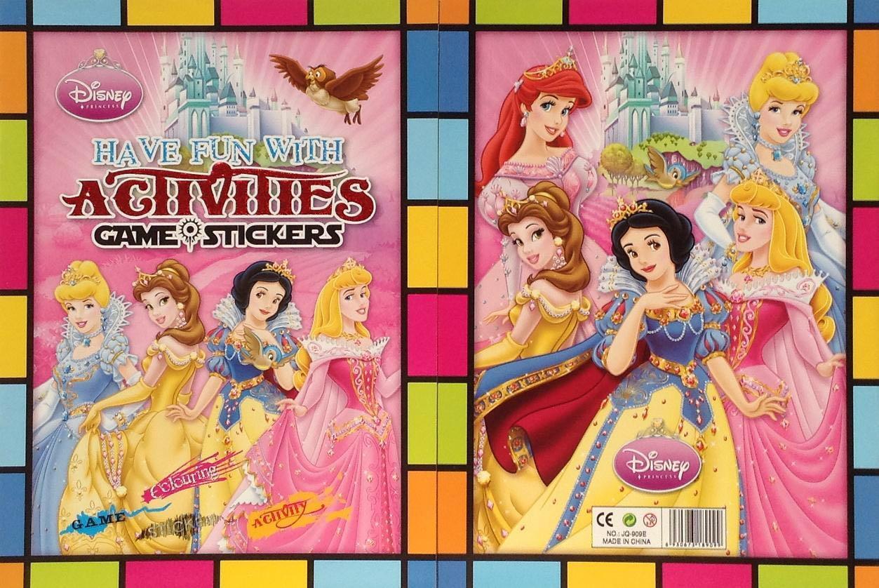 disney princess activities and stickers book