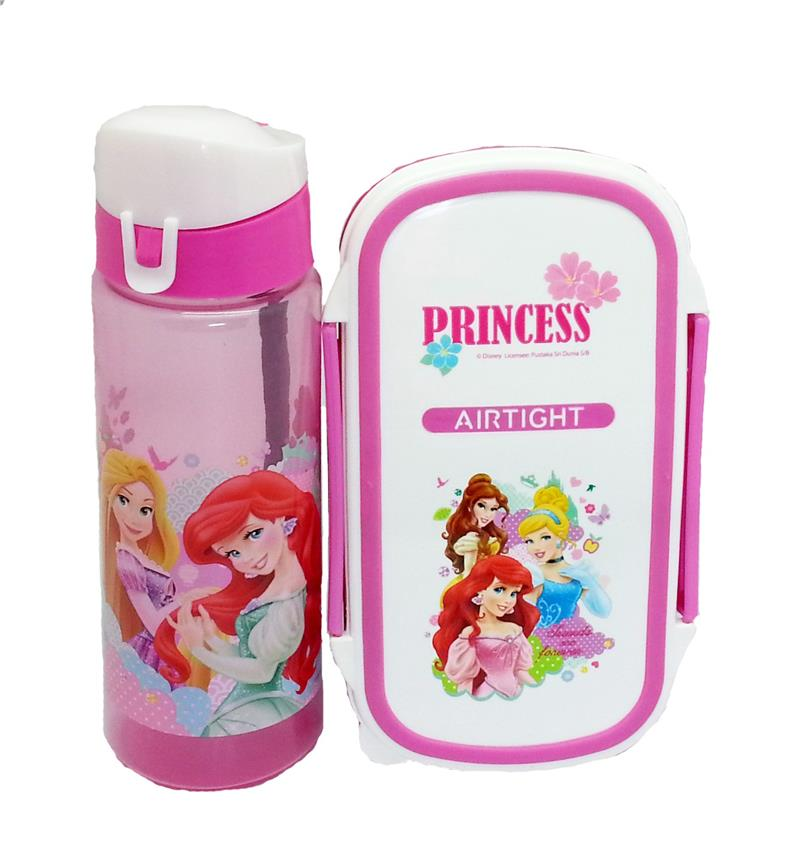 DISNEY PRINCESS BUTTERFLY LUNCH BOX WITH WATER BOTTLE SET