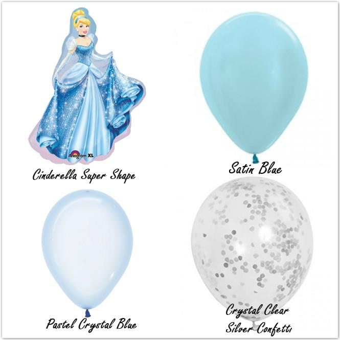 Disney Princess Cinderella Magical Balloons Combo Set Party Decoration