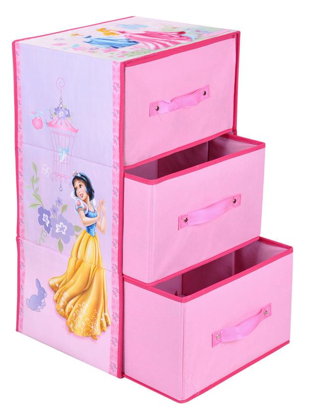 Disney Princess Foldable 3 Drawal Storage Box (dle004) FREE SHIPPING