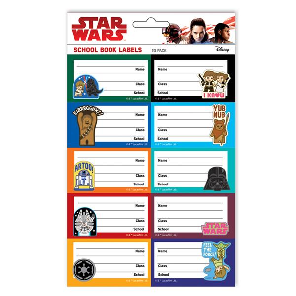 School Book Cover Stickers : Disney star wars school book sticker end pm