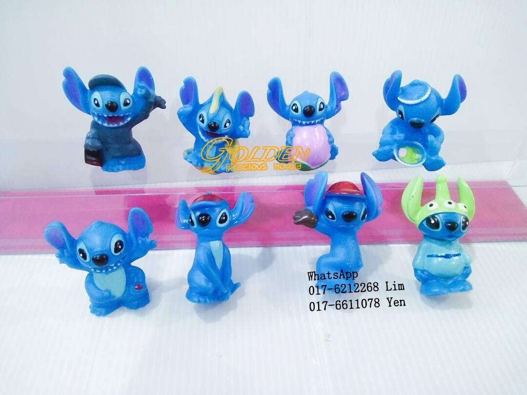Disney Stitch Cute Figurine Play Set Cake Decoration 8pcs