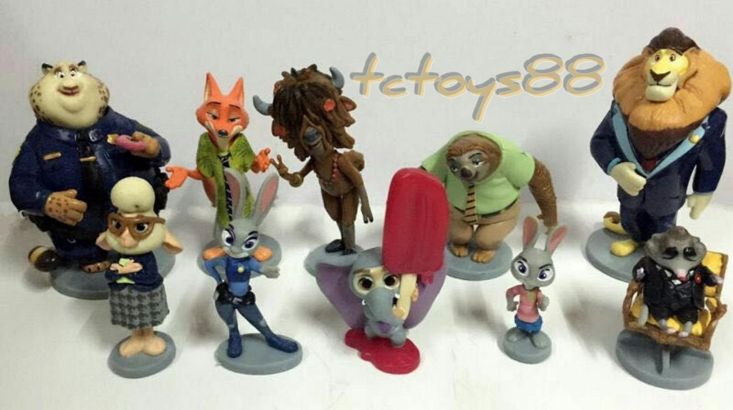 Disney Zootopia Figure BIG Set / Cake Topper (10 pcs in 1). New