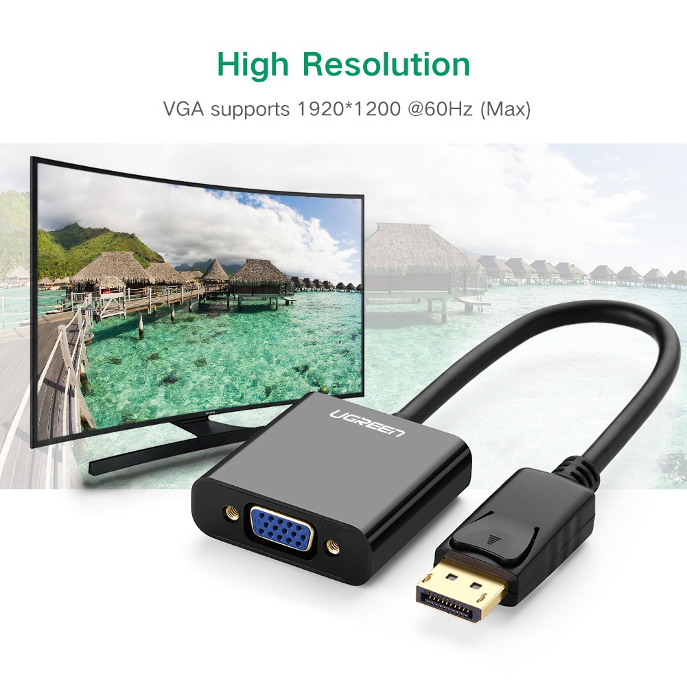 Displayport Dp To VGA Male To Female Adapter