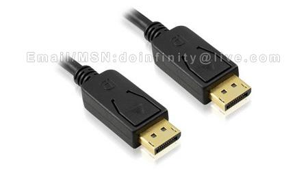DisplayPort to Display Port Male DP Gold Plated Cable 1.8M PC Laptop