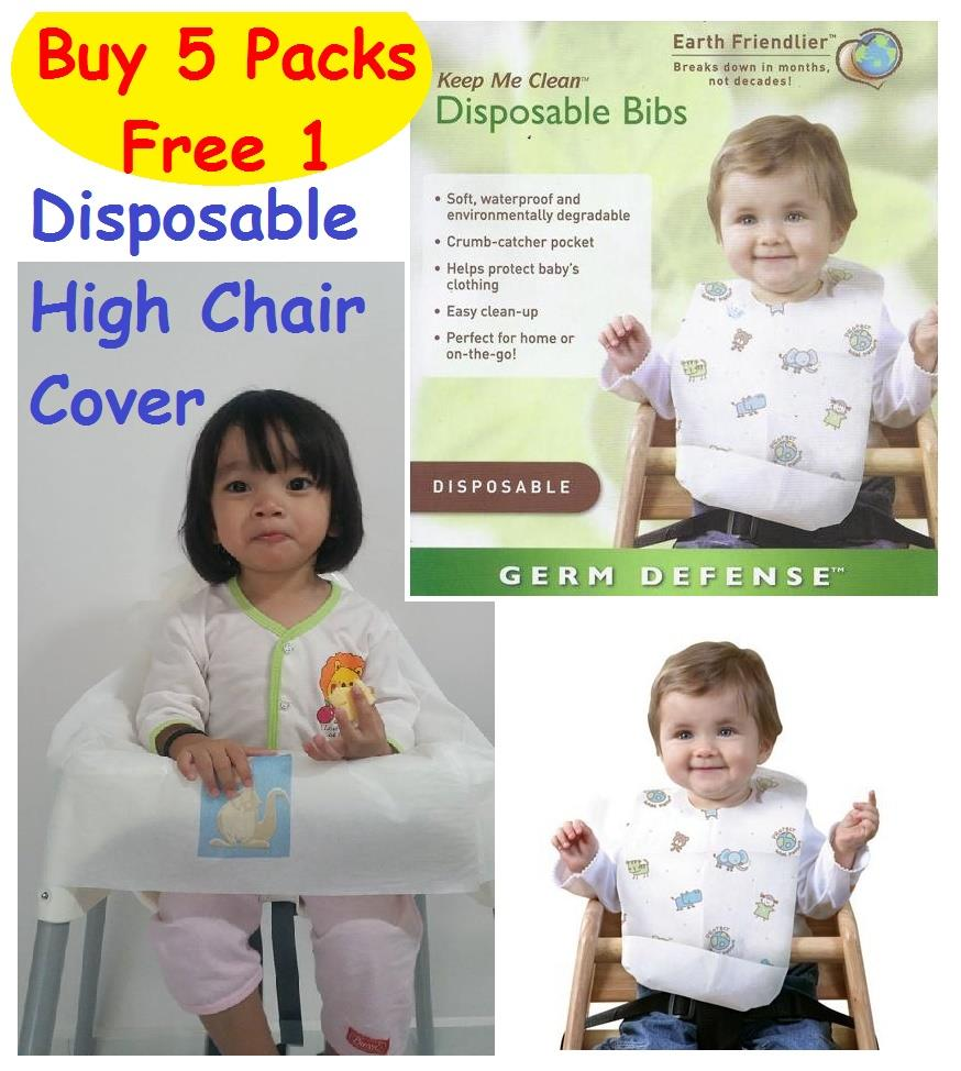 Disposable High Chair Cover Bib Keep Your Baby Away From The Germs