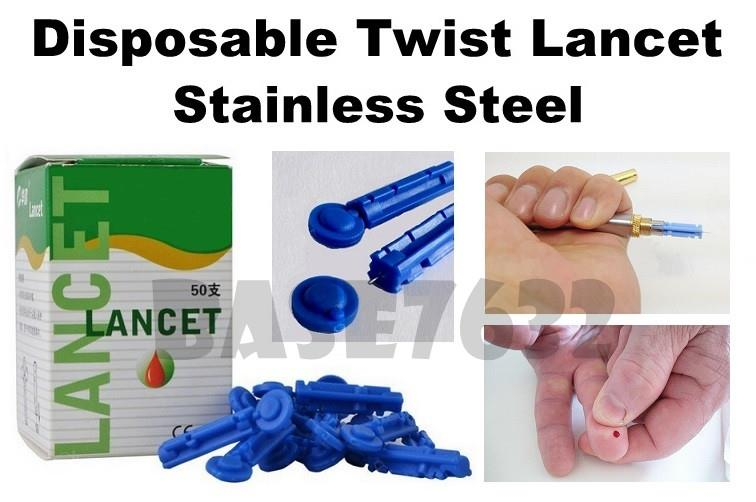 Disposable  Twist Blood Lancet Lancets Lancing Needle Needles Device