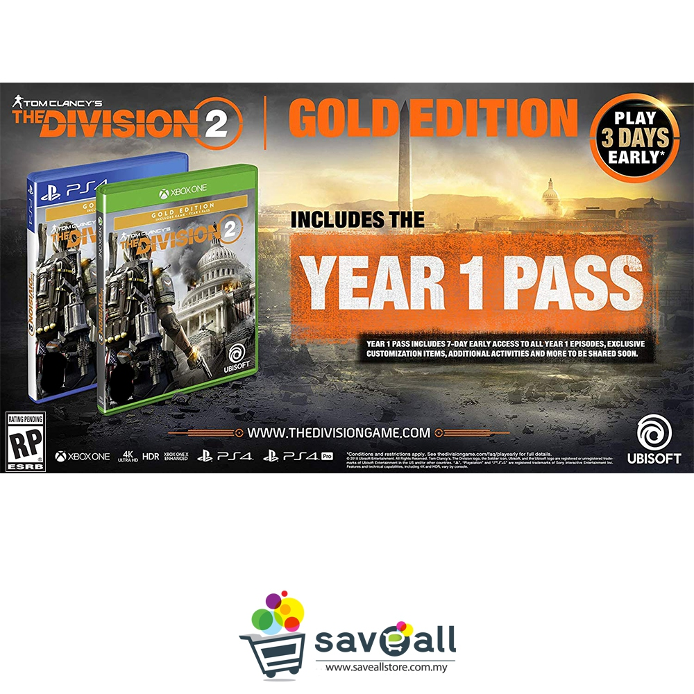 The Division 2 Gold Edition (EUR/ENG) - Xbox One