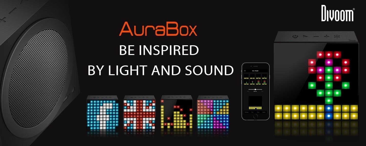 DIVOOM BLUETOOTH SPEAKER AURABOX BLACK