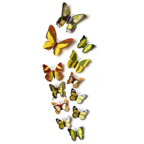 DIY 12PCS 3D BUTTERFLY WALL DECOR STICKERS FOR LIVING ROOM BEDROOM OFF. U2039 U203a