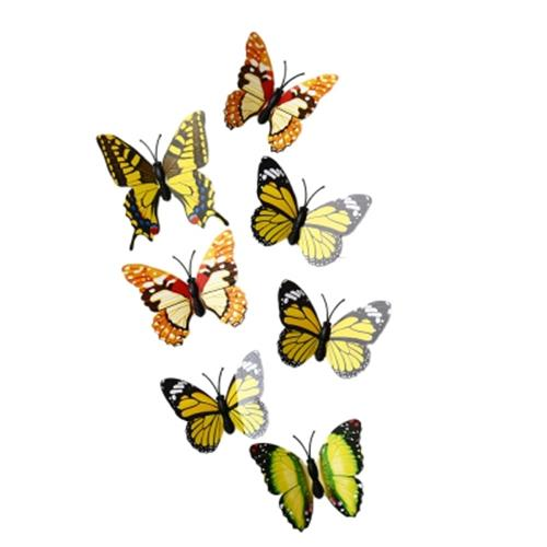 DIY 12PCS 3D BUTTERFLY WALL DECOR STICKERS FOR LIVING ROOM BEDROOM OFF