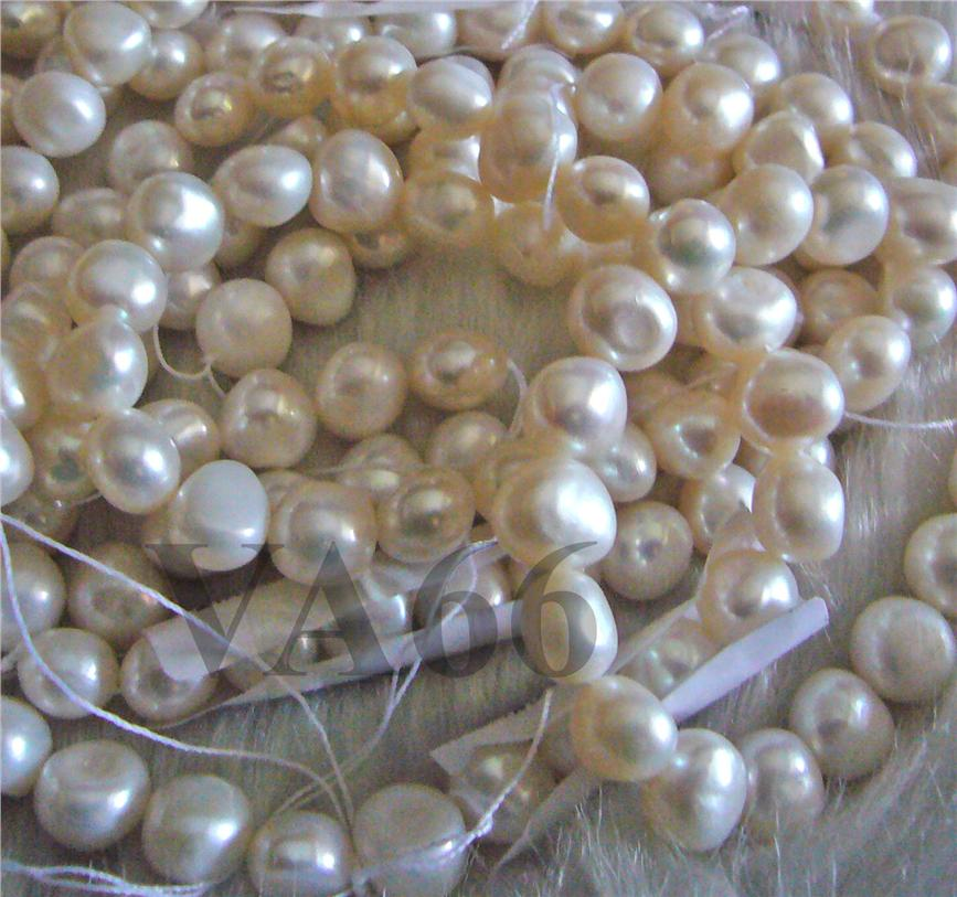 DIY 14.5 Inches White Lustre Keishi Nugget Pearls Freeform Loose Pearl