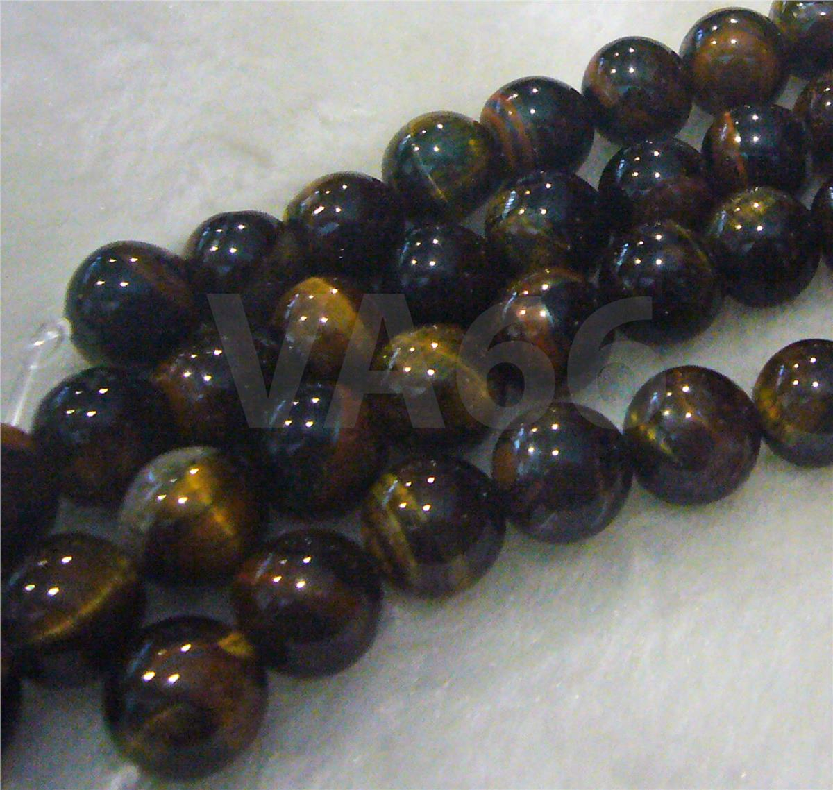 "DIY 14"" Blue Tiger Eye Hawk's Eye Gemstone 12mm Tigereyes Round Beads"