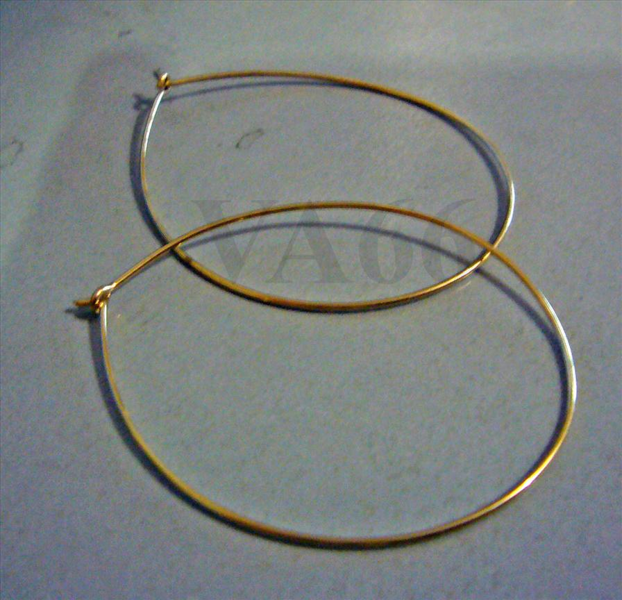 DIY 14K Gold Filled Earring Hooks Hoops Hoopies Suasa Medium Loops