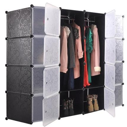 DIY 16 Cube Storage Cupboard Cabinet Wardrobe Toy Shelves 5 Colours. U2039 U203a