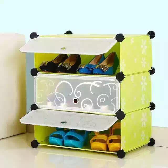 diy shoe rack cover