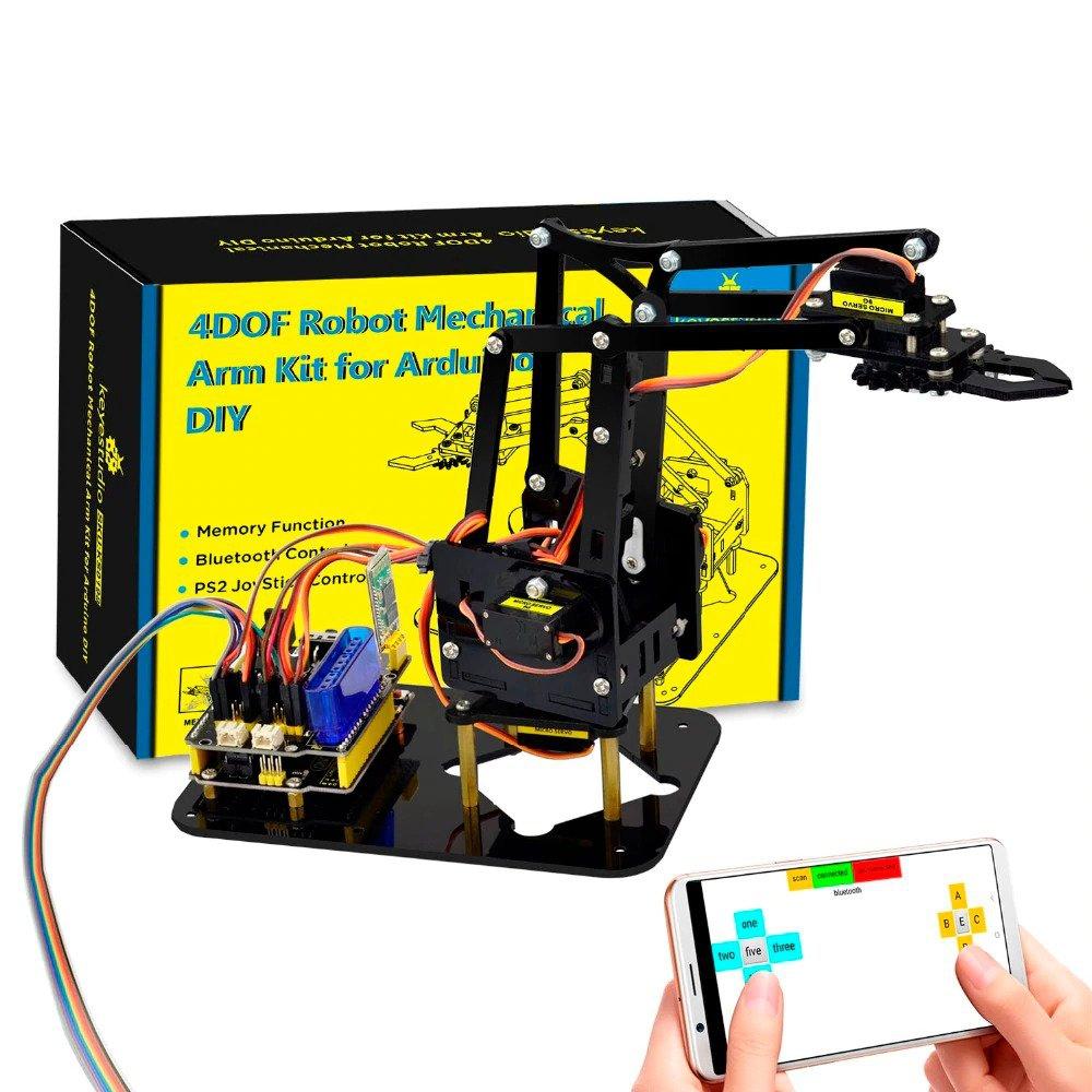 DIY 4DOF Robot Arm Kit - Keyestudio Mechanical Claw Using Arduino UNO Servo  Mo