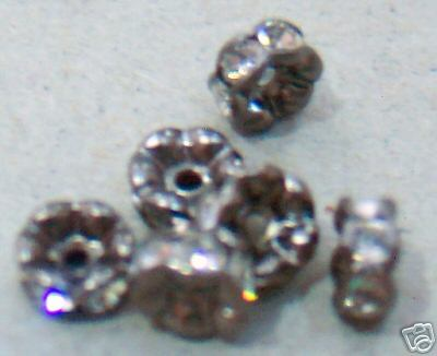 DIY 5mm Nickel Free Black Rhinestone Diamond Rondelles 10p