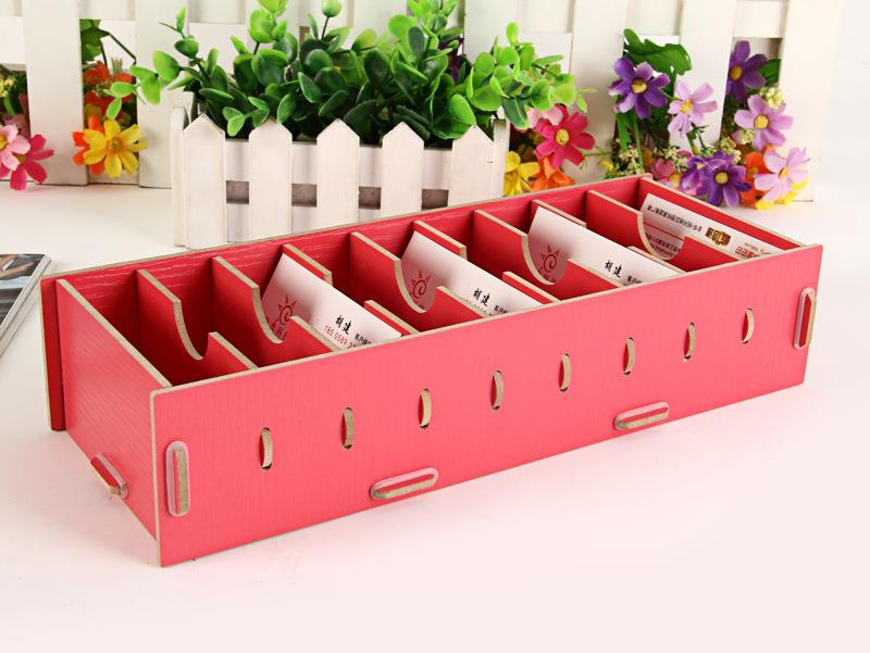 Diy business card box holder storage end 8272019 415 am diy business card box holder storage office stationery name card rack reheart