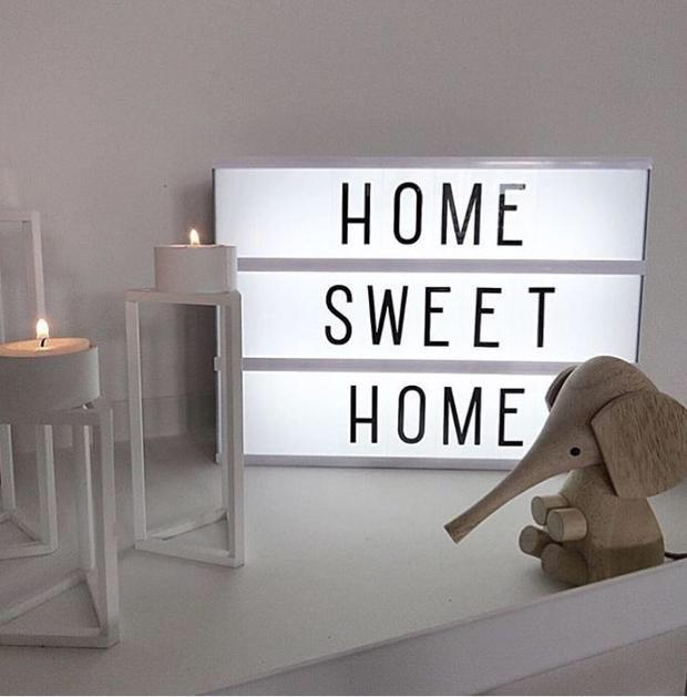 Diy Capital Words Led Light Box Home Decorative Message Night Lamp