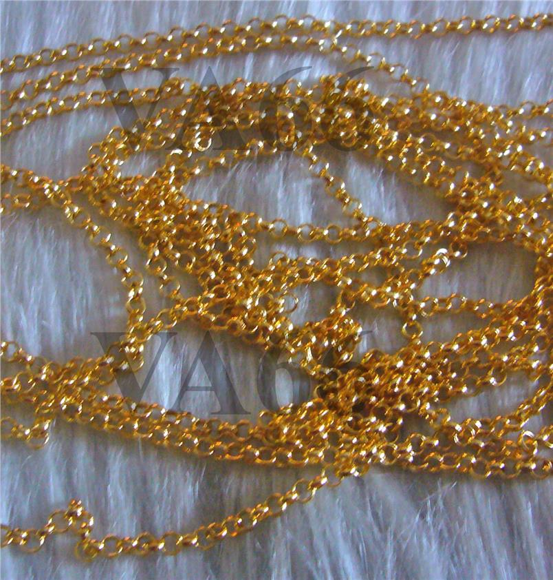 594af7e7b9c DIY Chain Gold Findings Rollo Chain links 2 meters for Jewelry making