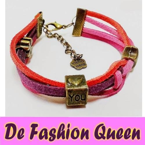 DIY CREATIVE LEATHER BRACELET #A04