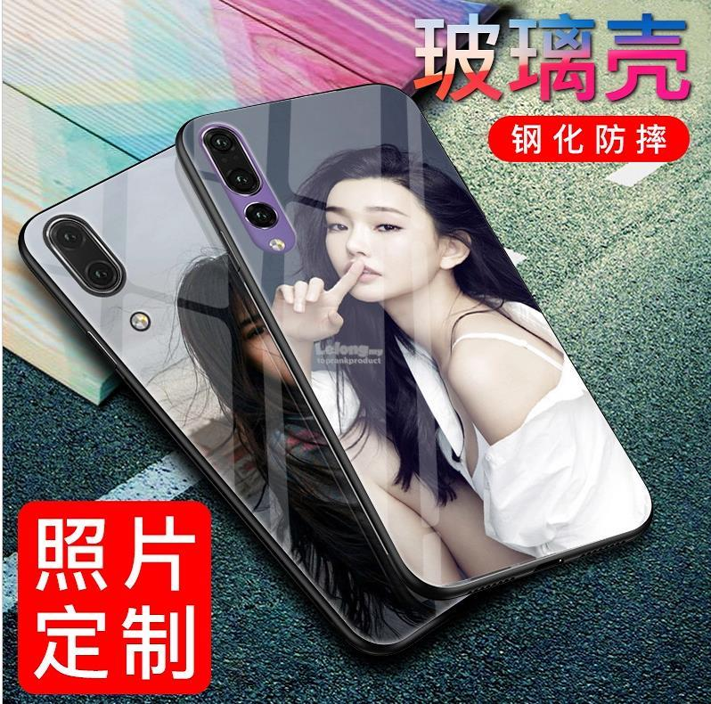 DIY Customize Huawei P10 Plus P20 Pro Tempered Glass Case Cover Casing