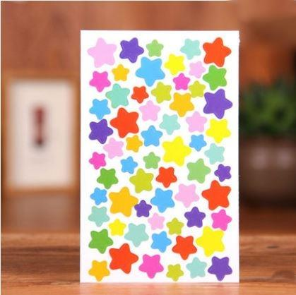 DIY Decorative Scrapbook Album Star Stickers