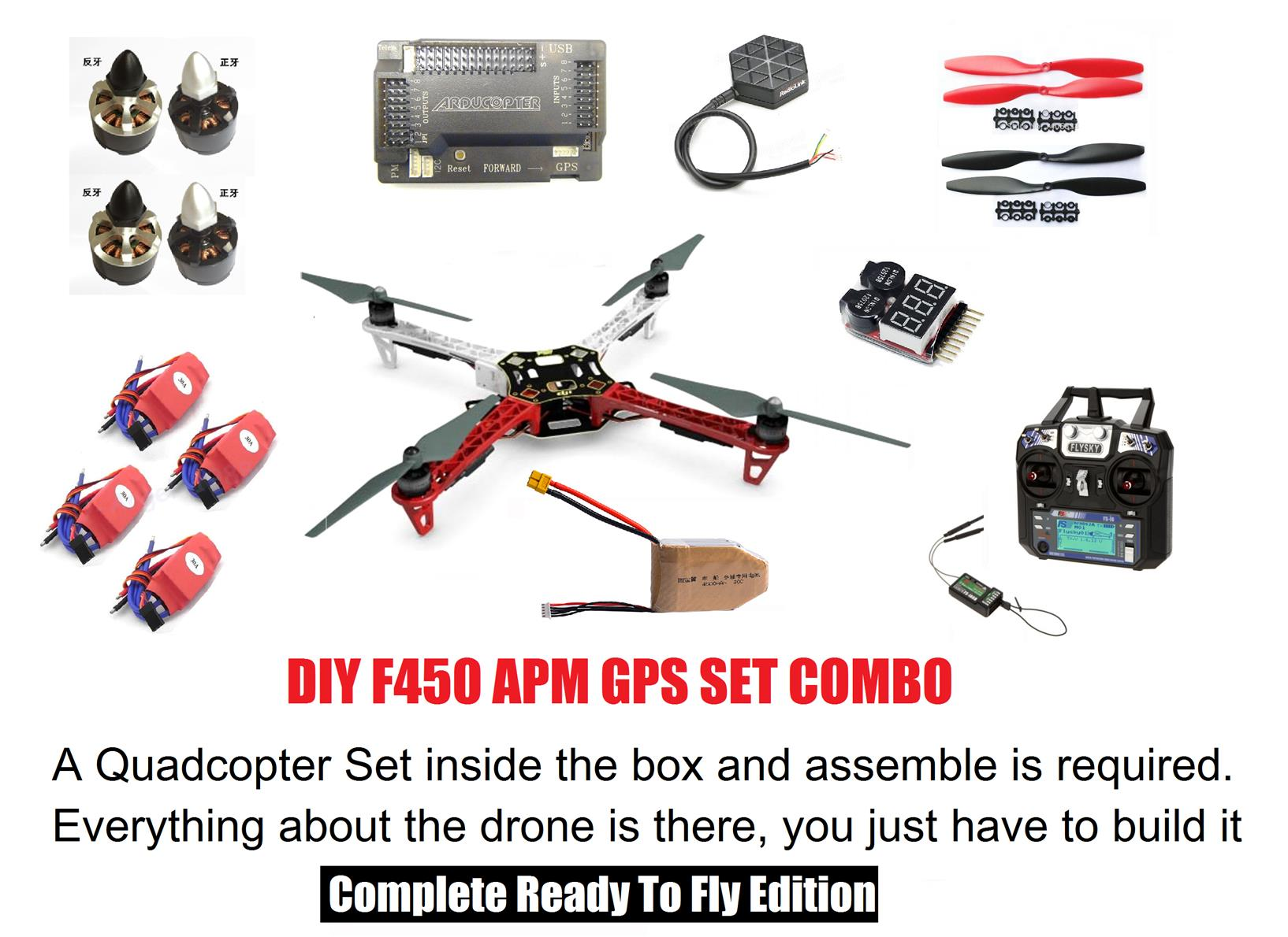 Diy Drone F450 Quadcopter With Apm End 9 26 2019 1115 Am Flamewheel Wiring Diagram Gps System Complete Combo