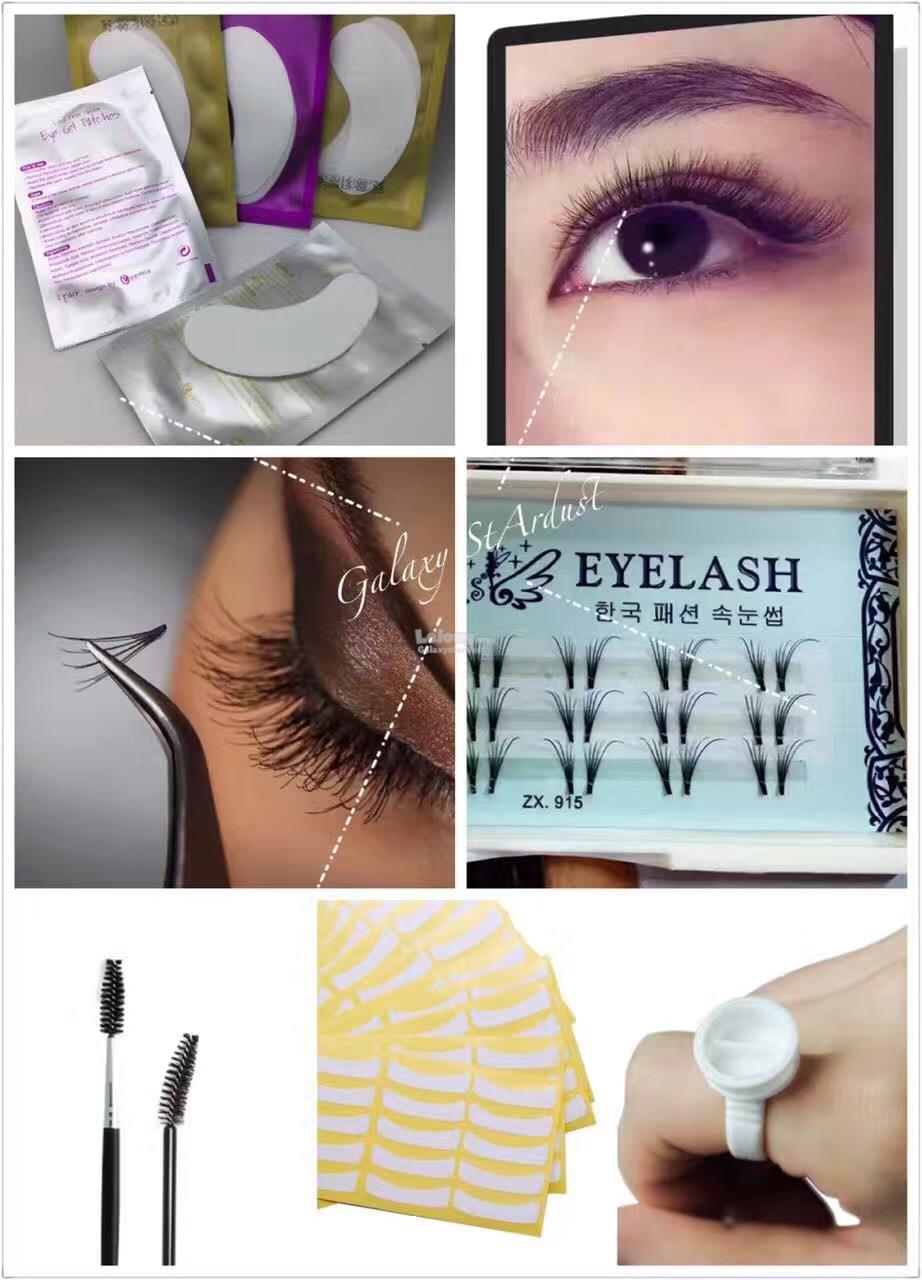 0f25f0e69aa DIY Eyelash Extension Kit Supplies,Lash,Glue Ring Holder,Spoolie Comb