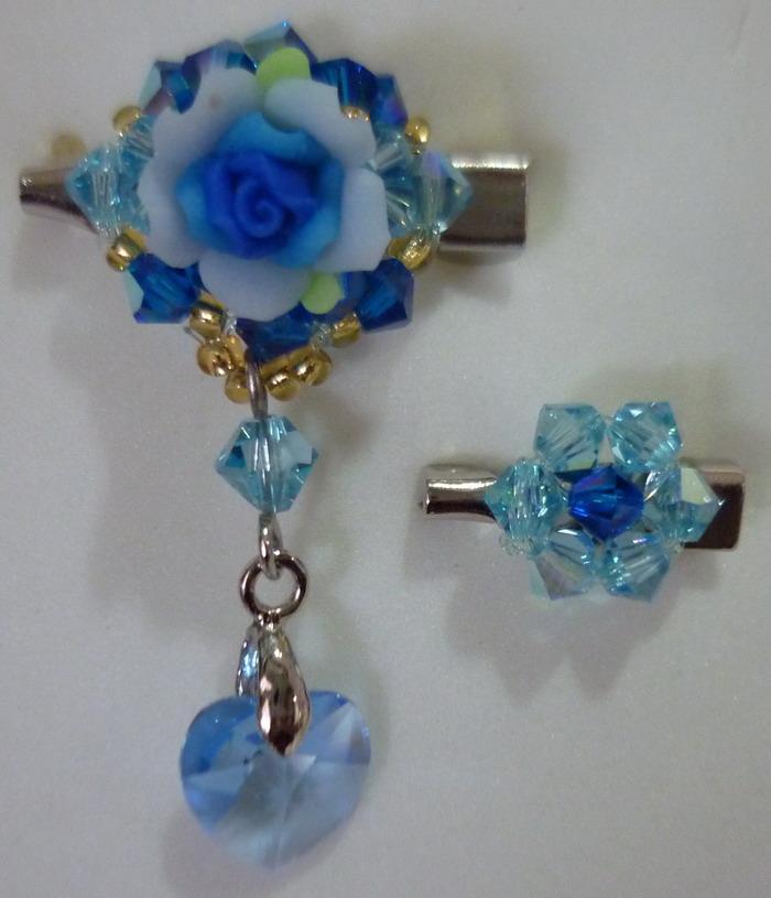 52a6d83ff80c59 DIY Handmade Swarovski Crystal Beads   Polymer Flower Brooch Pin. ‹ ›