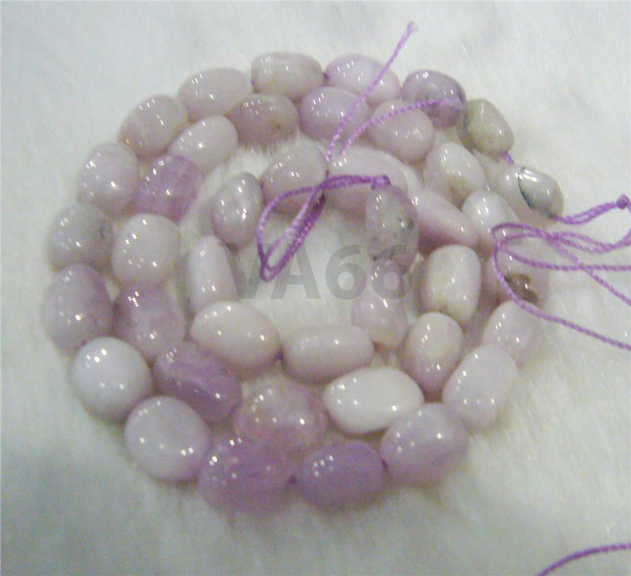 "DIY Mauve Purple Kunzite Tumble Gemstone Oval Pebble 9mm 10mm 15"" Batu"