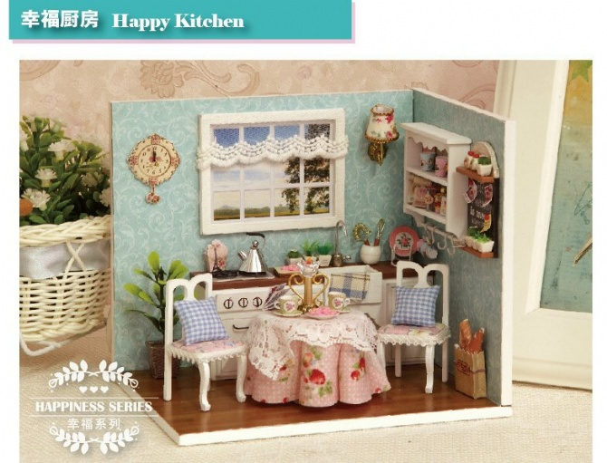 DIY Miniature room happiness series with Cover - Happy kitchen